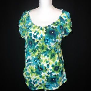 Axcess blue green top with draw string under chest